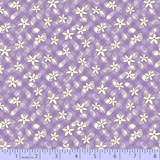 Aunt Grace's Apron --  Purple Lazy Daisy
