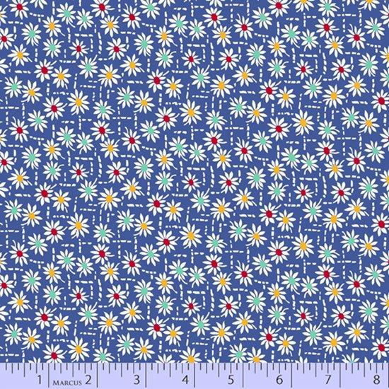Aunt Grace's Apron --  Blue Daisy Stitch