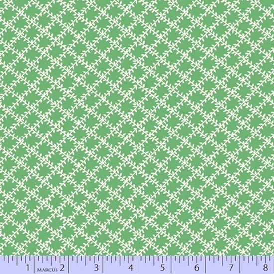 Aunt Grace's Apron -- Green Leaf Trellis