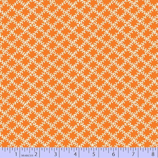 Aunt Grace's Apron -- Orange Leaf Trellis