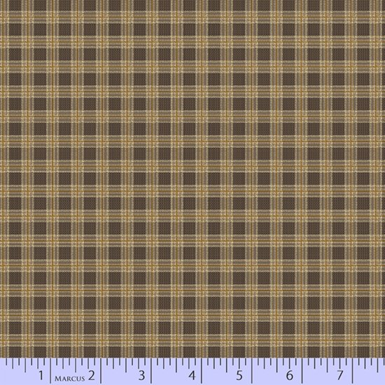 Bygone Browns - Brown Plaid (1 yard)