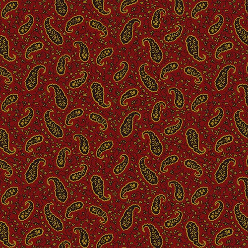 Wit and Wisdom - Red Vintage Paisley