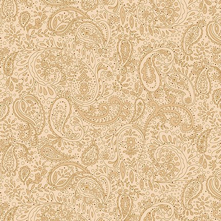 Butter Churn Basics - Small Tan Paisley