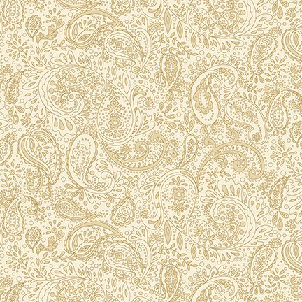 Butter Churn Basics - Small Cream Paisley