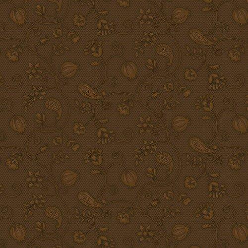 Esther's Heirloom Shirtings - Brown Garden Bramble