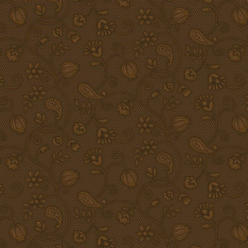 Esther's Heirloom Shirtings - Brown Garden Bramble