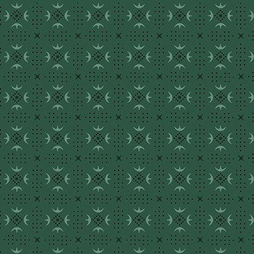 Esther's Heirloom Shirtings - Teal Turkey Tracks