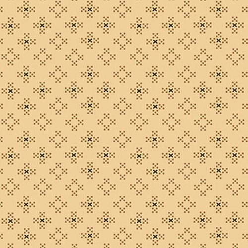 Esther's Heirloom Shirtings - Cream Nine Patch Clusters