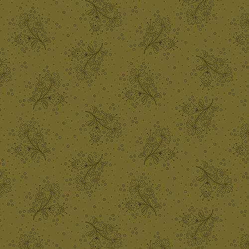 Esther's Heirloom Shirtings - Green Floral Sprays