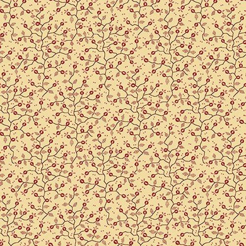 Esther's Heirloom Shirtings - Cream Mini Vine
