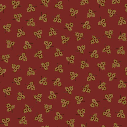 Esther's Heirloom Shirtings - Red Tossed Leaves