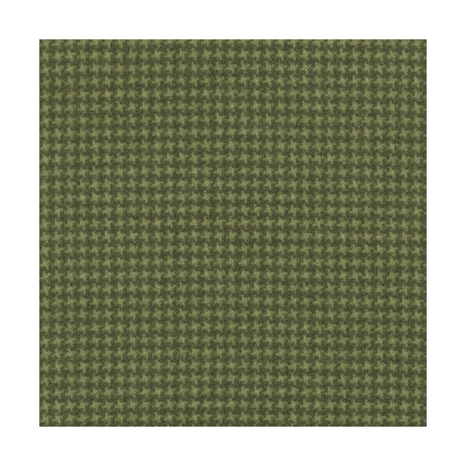 Woolies Flannel - Green Tiny Houndstooth