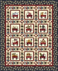 My Red Wagon Quilt 2