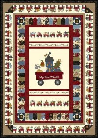 My Red Wagon Quilt 1