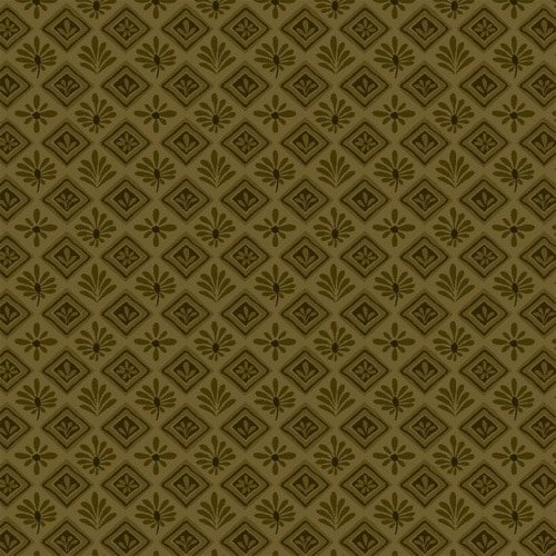 Itty Bitty Crazy - Olive Geometric