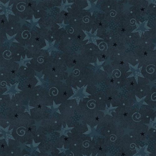 Itty Bitty Crazy - Dark Blue Stars