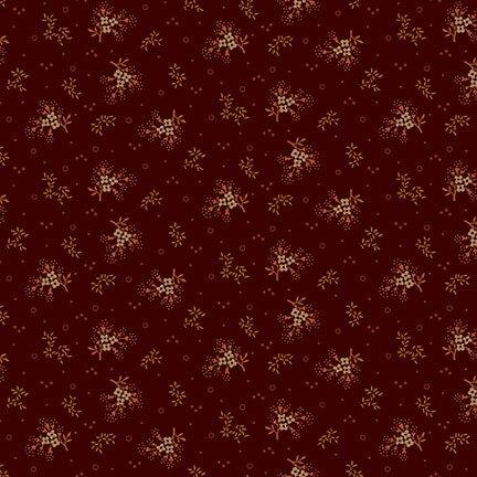 Buttermilk Autumn   - Dark Red Mini Floral