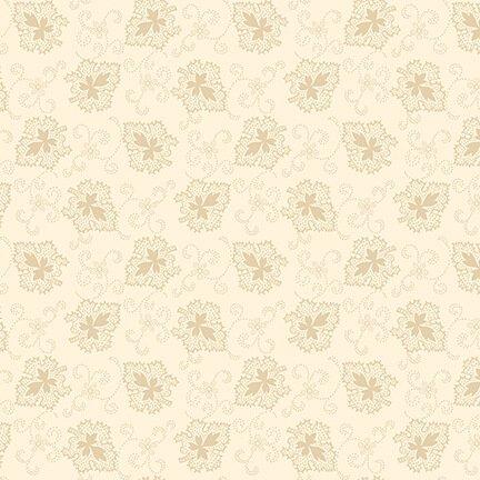 Buttermilk Autumn - Cream Oak Leaves