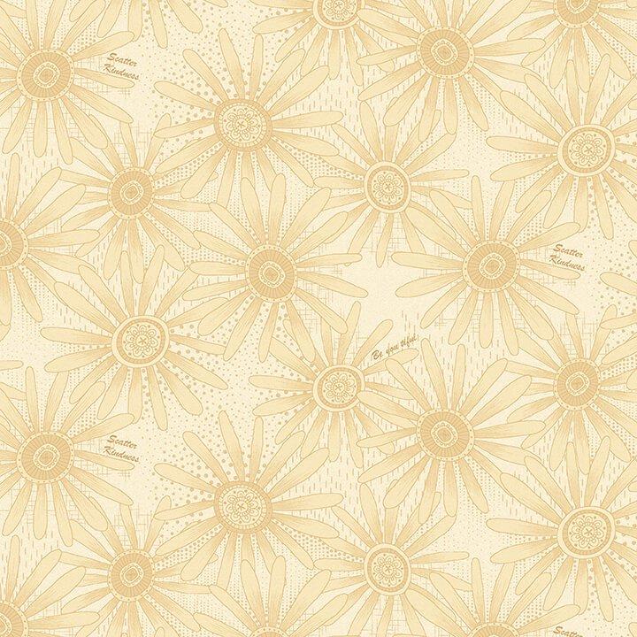 Plant Kindness - Cream Allover Flower