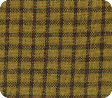 Brushed Cotton - Gold Plaid