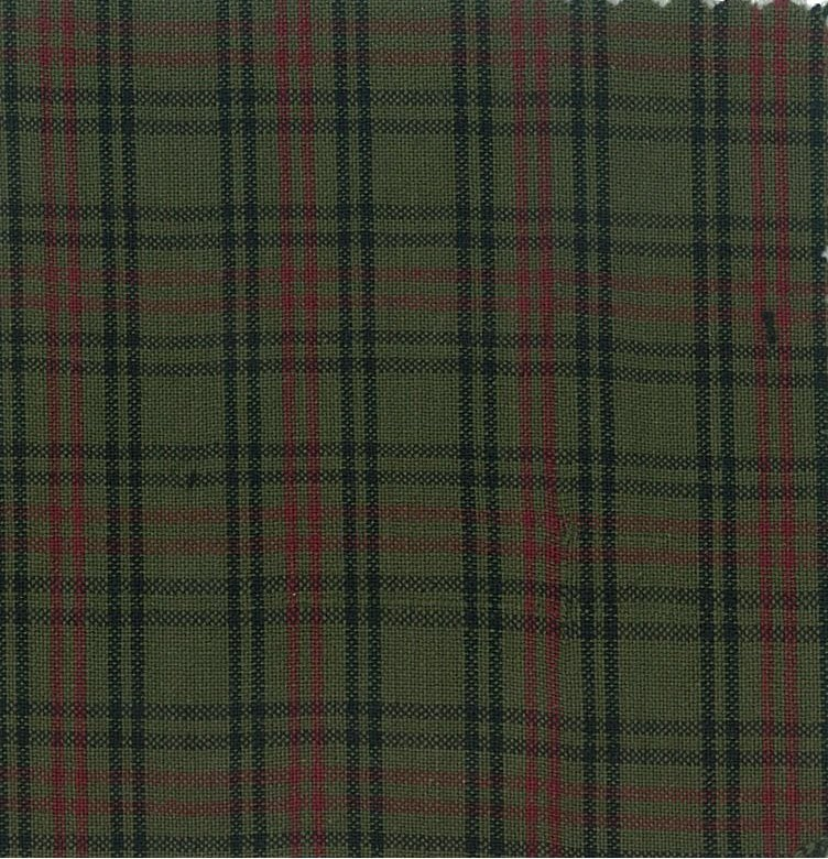 Brushed Cotton - Green Plaid