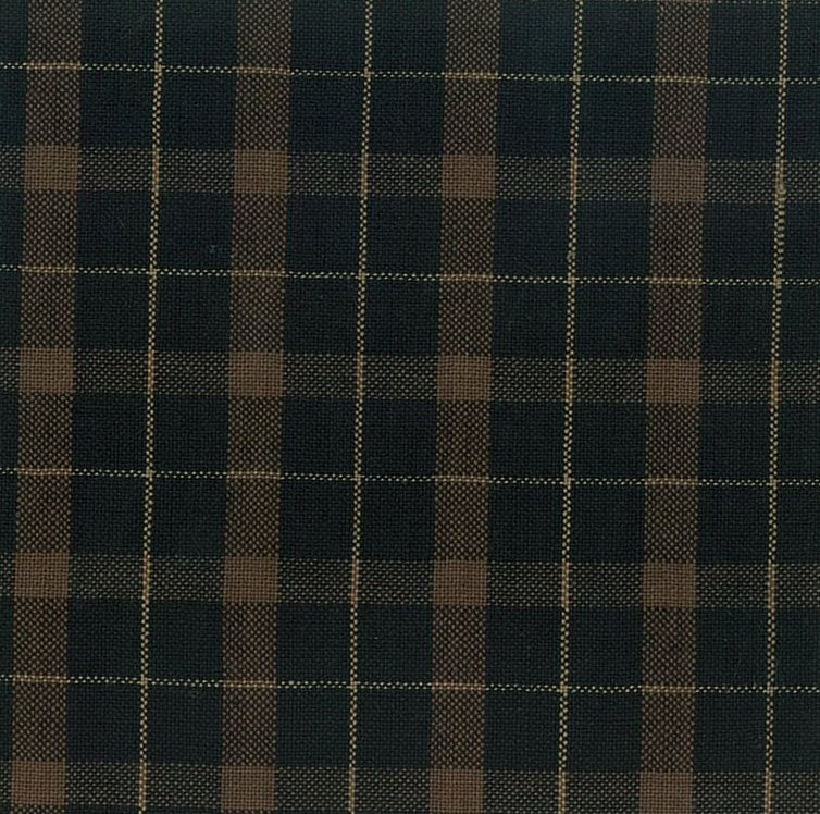 Brushed Cotton - Black and Brown Plaid