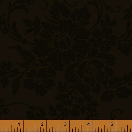 Mary's Blenders - Dark Brown Floral Damask