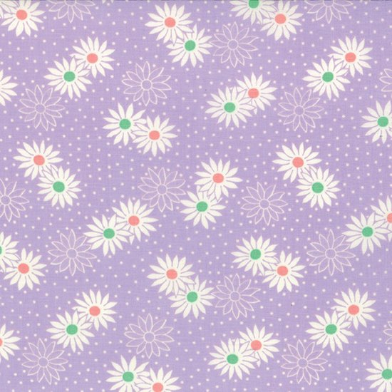 30's Playtime - Feedsack Flowers on Lilac (2 3/4 Yards)
