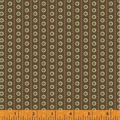 Threads of Time - Brown Dotted Stripe