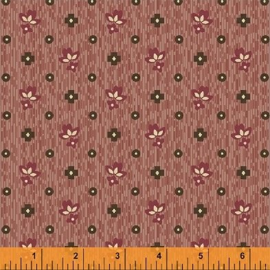 Threads of Time - Red Textured Leaf (1 yard)