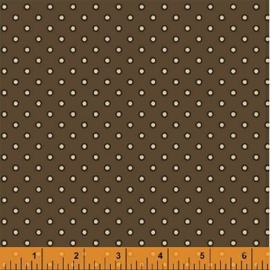 Threads of Time - Brown Outline Dot (1 1/8 yards)