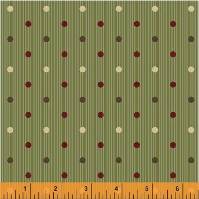 Threads of Time - Green Multi Dot