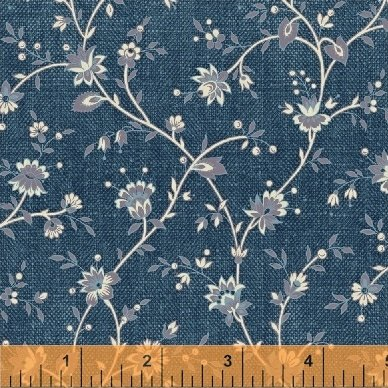 Chambray Rose - Blue Floral Vine