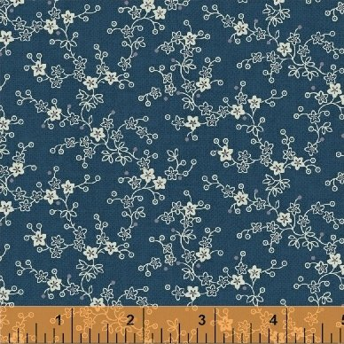 Chambray Rose - Blue Mini Floral Vine