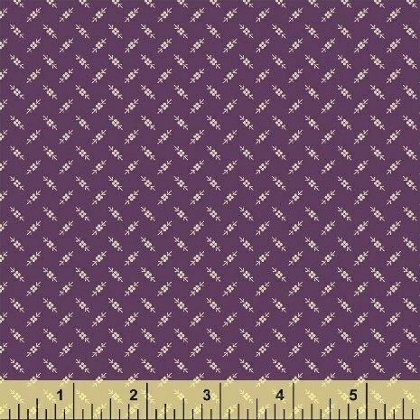 Tried & True - Purple Geometric Flower (1 1/8 yards)