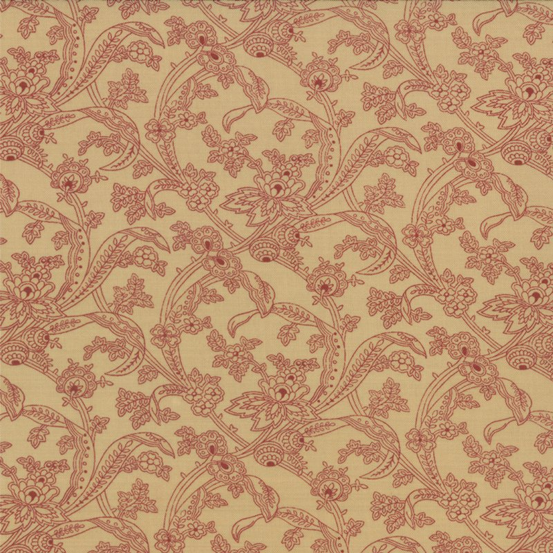 Collection for a Cause - Mill Book Series  Circa 1852  Cream & Red (7/8 yard)