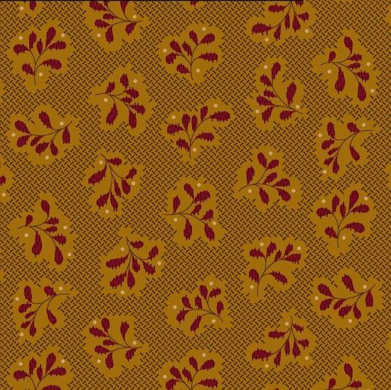 Katie's Cupboard - Gold Basketweave Leaf