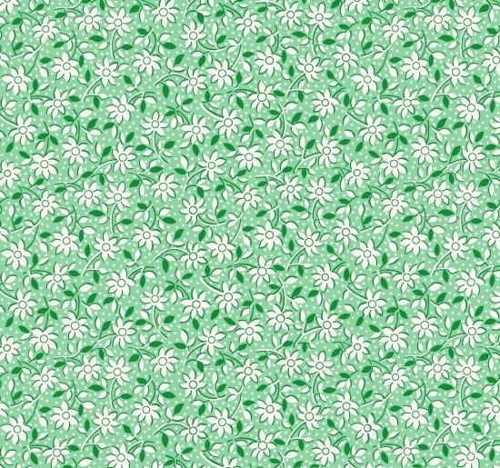 Nana Mae - Green Monotone Daisies