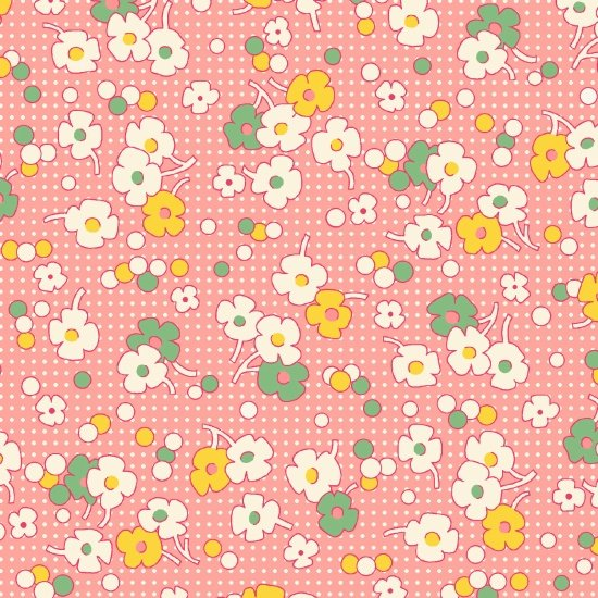 Nana Mae II  - Pink Floral with Dots