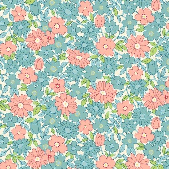 Nana Mae II  - Blue & Pink Large Daisy