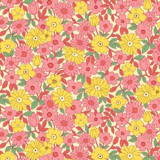 Nana Mae II  - Pink & Yellow Large Daisy