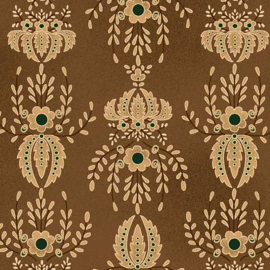 Farmstead Harvest - Brown Damask
