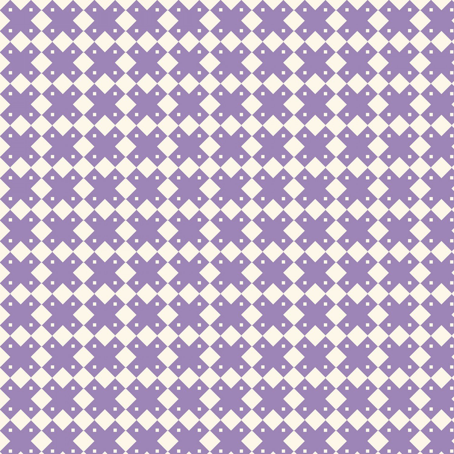 Aunt Grace Basket of Scraps - Purple Geometric
