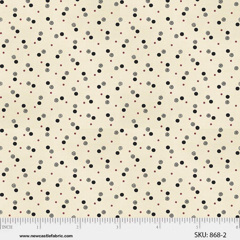 Margo's Favorite Shirtings II - Black Multi Dots