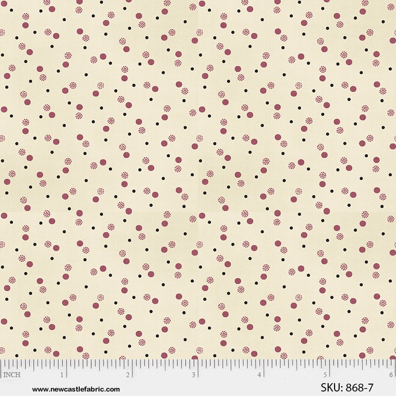 Margo's Favorite Shirtings II - Pink Multi Dots (1 3/8 yard)