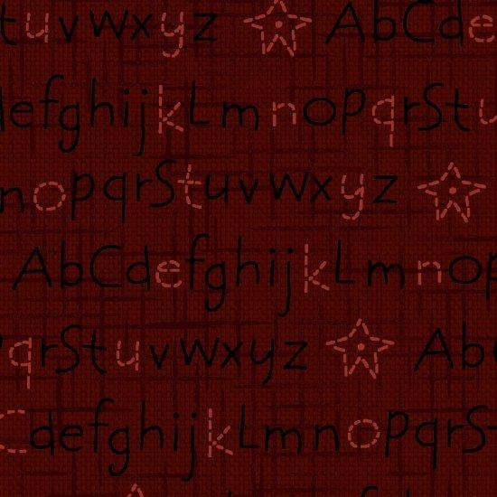 Berries & Blossoms - Dark Red Alphabet