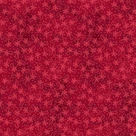 The Little Things - Red Tonal Lazy Daisy Twirl