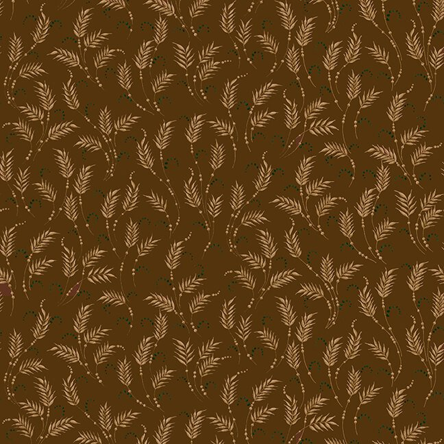 October Morning Fat Quarters - Brown and Orange