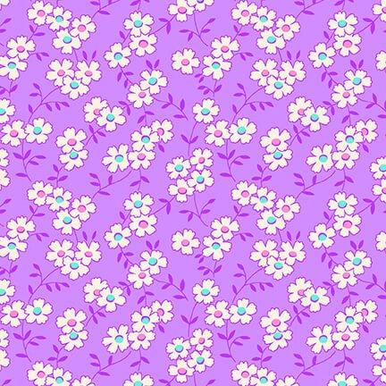 Nana Mae IV - Purple Multicolored Daisy