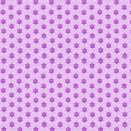 Nana Mae IV - Purple Monotone Geometric